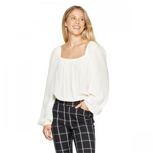 NWT A New Day Square Neck Top Small White